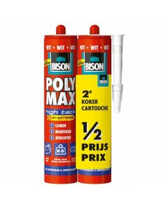 BISON POLY MAX HIGH TACK EXPRESS WIT DUO VERPAKKING