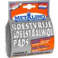 ROESTVRIJE EDELSTAALWOL PADS